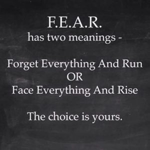 fear and success